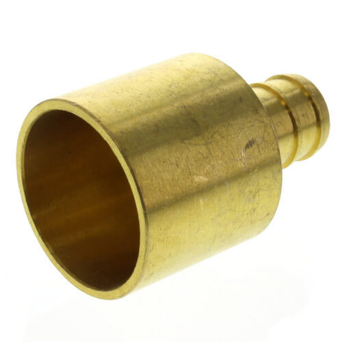 """1/2"""" PEX x 3/4"""" Copper Pipe Brass Adapter (Lead Free) Product Image"""