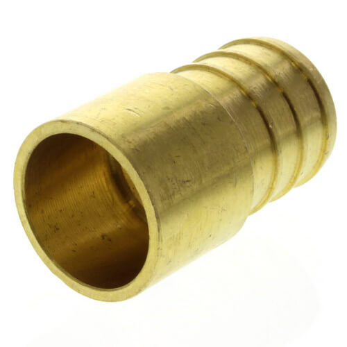 """3/4"""" PEX x 1/2"""" Copper Pipe Brass Adapter (Lead Free) Product Image"""