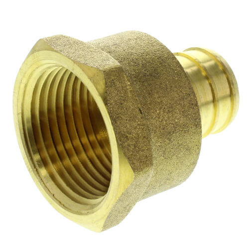 "1"" PEX x 1"" NPT Brass Female Adapter (Lead Free) Product Image"