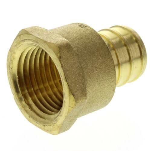 "3/4"" PEX x 1/2"" NPT Brass Female Adapter (Lead Free) Product Image"