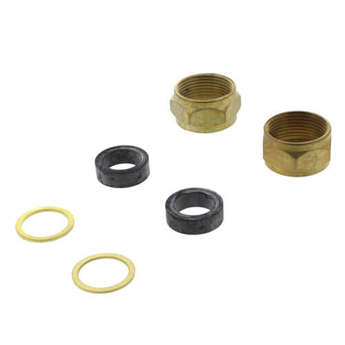 Gauge Glass Repair Kit (2 Nuts, 2 Friction Washers, 2 Gauge Glass Washers) Product Image
