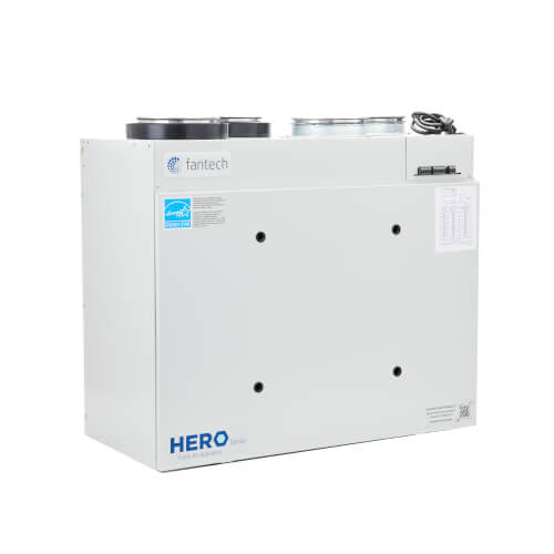 """HERO 250H Heat Recovery Ventilator w/ Electronically Commutated Motors (ECM), 6"""" Top Ports, 265 CFM Product Image"""