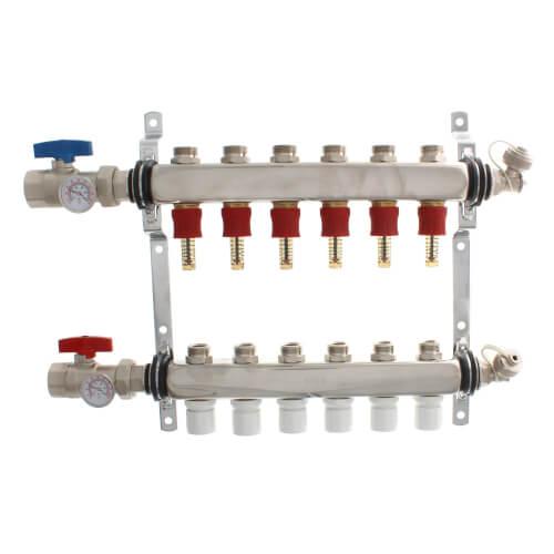 6-Loop Stainless Steel Radiant Heat Manifold Product Image