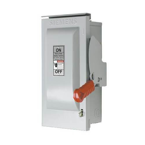 Fused 3 Pole Disconnect, 480V, 30A, Type H Fuse, Nema 3R Outdoor Enclosure Product Image