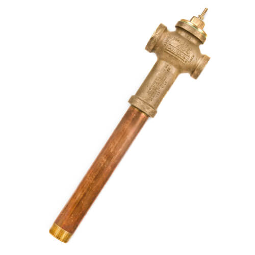 "1/2"" Bronze Thermostatic Tempering Valve (Low Temp) Product Image"