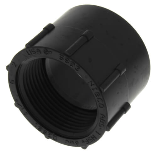 """1-1/4"""" Hub x FIPT ABS DWV Female Adapter (5803) Product Image"""