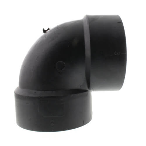 "3"" Hub ABS DWV 90° Vent Elbow (5807V) Product Image"