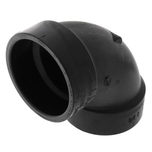 """1-1/2"""" Hub ABS DWV 90° Elbow (5807) Product Image"""