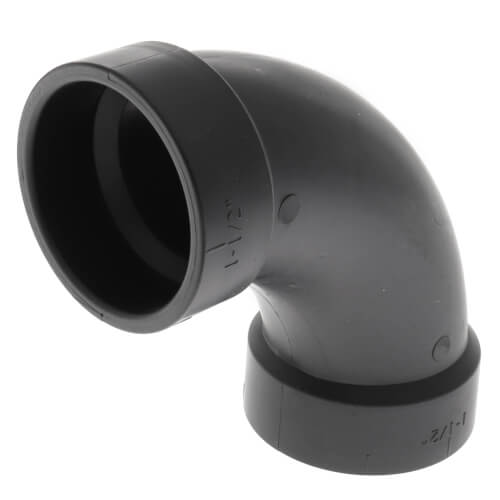 "1-1/2"" Hub ABS DWV 90° Long Turn Elbow (5807LT) Product Image"