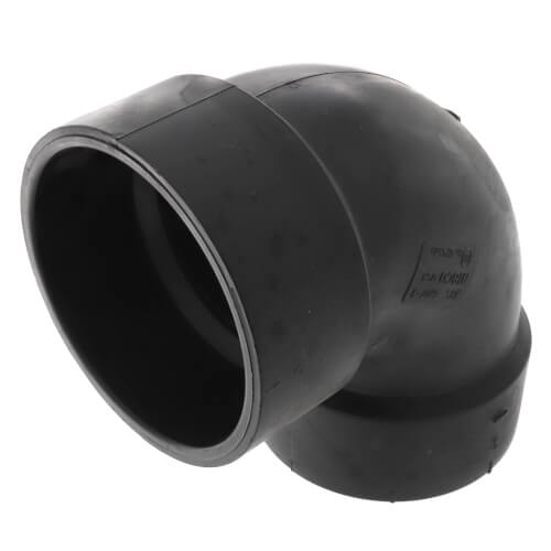 "3"" Hub x FIPT ABS DWV 90° Elbow (58073) Product Image"