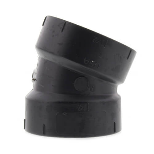 """1-1/2"""" Hub ABS DWV 22-1/2° Elbow (5808) Product Image"""