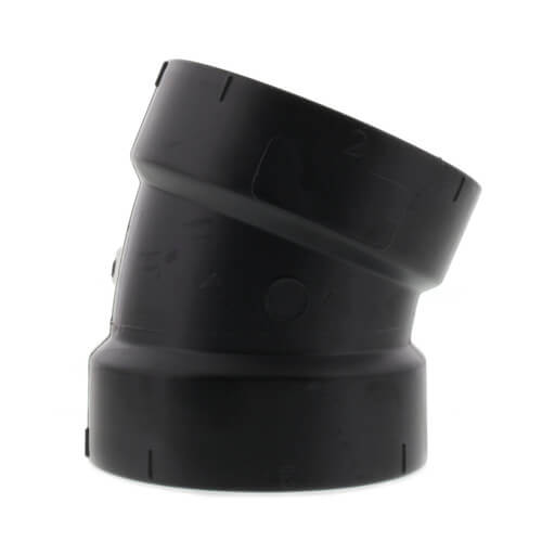 "2"" Hub ABS DWV 22-1/2° Elbow (5808) Product Image"