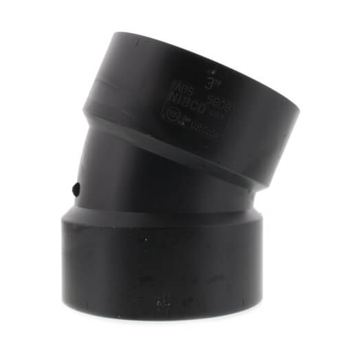 """3"""" Hub ABS DWV 22-1/2° Elbow (5808) Product Image"""