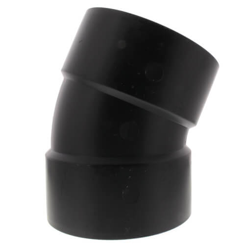 """6"""" Hub ABS DWV 22-1/2° Elbow (5808) Product Image"""