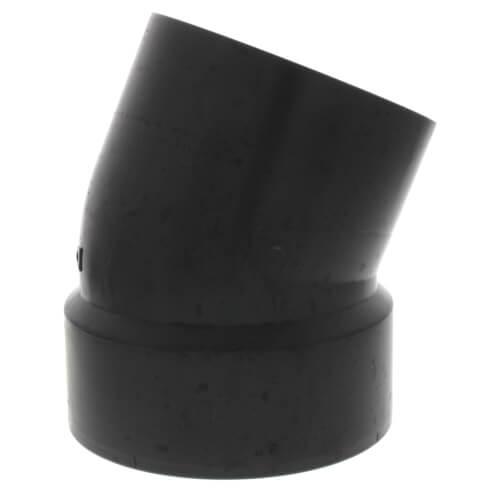 "4"" Spigot x Hub ABS 22-1/2° Street Elbow (58082) Product Image"