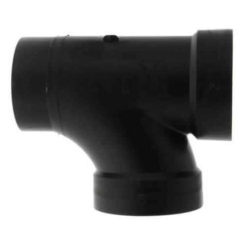 """2"""" Spigot x Hub x Hub ABS DWV Street Tee (58112) Product Image"""