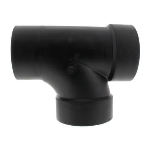"""4"""" Spigot x Hub x Hub ABS DWV Street Tee (58112) Product Image"""
