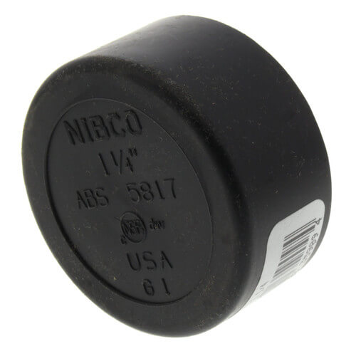 "1-1/4"" Hub ABS DWV Cap (5817) Product Image"