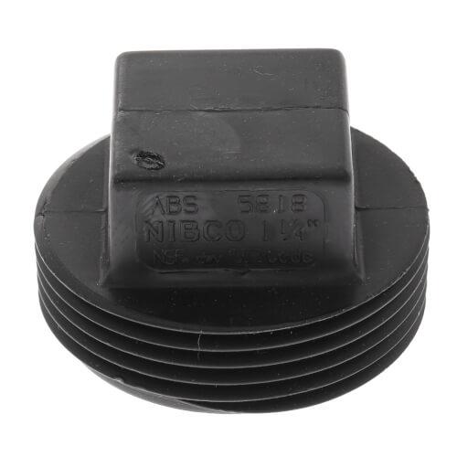 "1-1/4"" MIPT ABS DWV Plug (5818) Product Image"