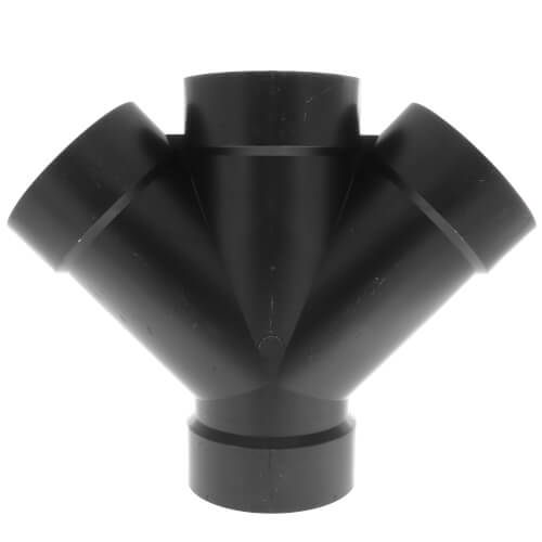 """4"""" H x H x H ABS 45° Double Wye (5834) Product Image"""