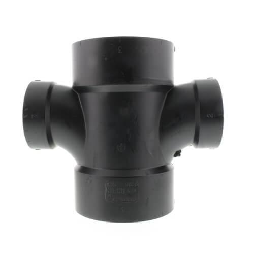 """3"""" x 3"""" x 2"""" x 2"""" H x H x H ABS Double Sanitary Tee (5835R) Product Image"""