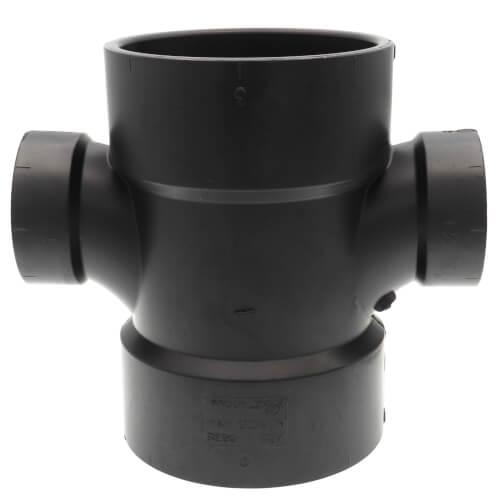 """3"""" x 3"""" x 1-1/2"""" x 1-1/2"""" H x H x H ABS Double Sanitary Tee (5835R) Product Image"""