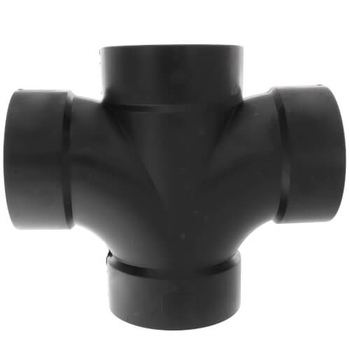 """4"""" H x H x H ABS Double Sanitary Tee (5835) Product Image"""