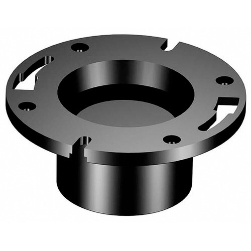 """3"""" or 4"""" Hub ABS Flush Closet Flange with Pipe Stop & Knockout (5853KO) Product Image"""