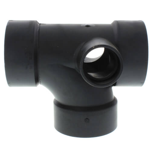 """3"""" Hub ABS DWV Sanitary Tee w/ 1-1/2"""" 90° Right & Left Inlets (5870R) Product Image"""