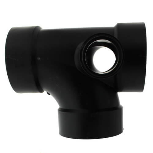 """4"""" x 4"""" x 4"""" x 2"""" x 2"""" Hub ABS Sanitary Tee with 90° Right & Left Inlets (5870R) Product Image"""