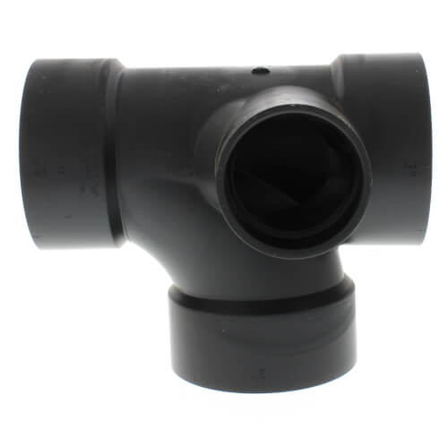 "3"" x 3"" x 3"" x 2"" Hub ABS Sanitary Tee with 90° Left Inlet (5871) Product Image"