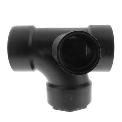 "3"" x 3"" x 2"" x 2"" Hub ABS Sanitary Tee with 90° Right Inlet (5872) Product Image"