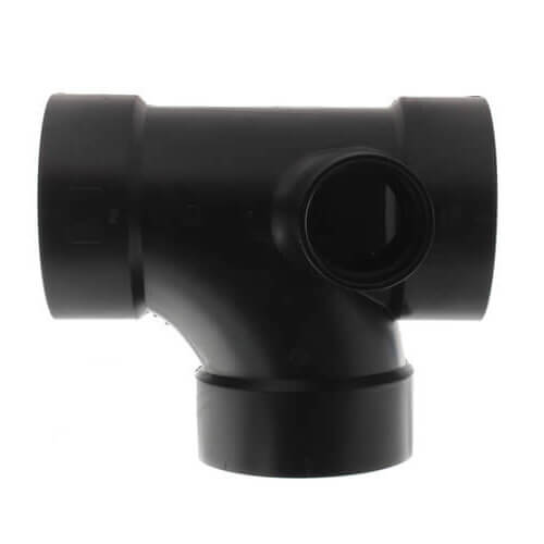 """4"""" x 4"""" x 4"""" x 2"""" Hub ABS Sanitary Tee with 90° Right Inlet (5872) Product Image"""