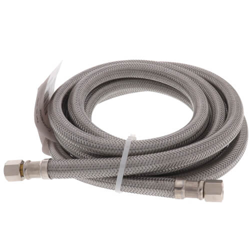 "96"" Ice Maker Braided Hose Connector (1/4"" x 1/4"" Compression) Product Image"