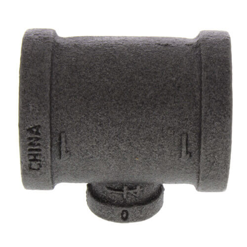 "3/8"" x 3/8"" x 1/8"" Black Reducing Tee Product Image"