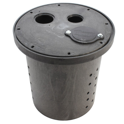"""Crawl Space Perforated Basin & Cover, 16-1/2"""" x 15"""" Product Image"""