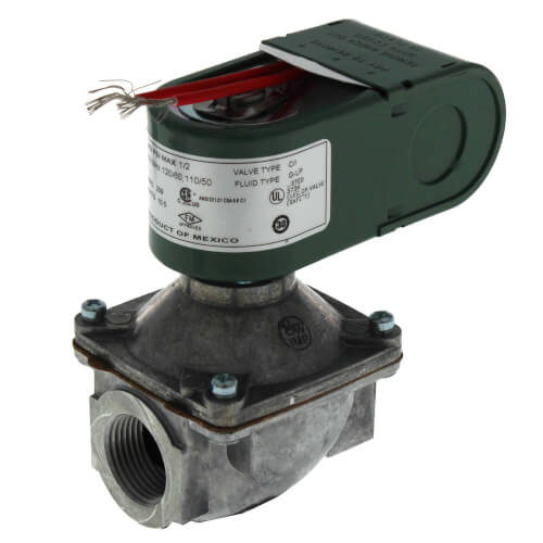 "3/4"" Threaded 2-Way Normally Closed Low Pressure Direct Acting Gas Shutoff Valve (110/120V) Product Image"