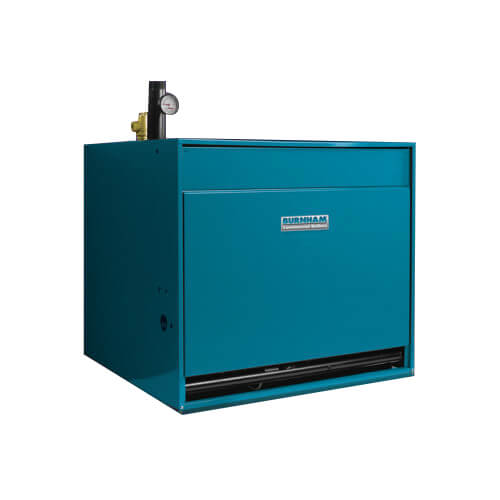 8HE 239,000 BTU Output, Cast Iron Gas Fired Commercial Water Boiler (NG/LP) Product Image