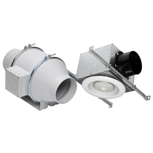 TD100X1 Standard Lighted Exhaust Kit w/ Halogen Bulb (Single Vent) Product Image