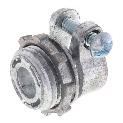 "3/8"" Zinc BX-Flex Squeeze Connector with Round End Stop Product Image"