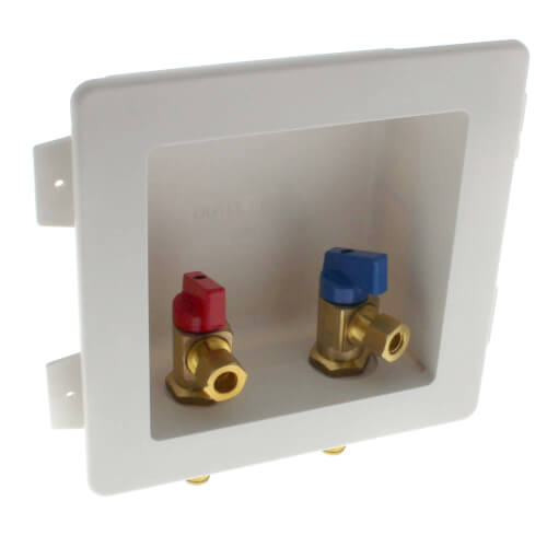 "1/2"" PEX Crimp Lavatory Outlet Box w/ 2 Valves Product Image"