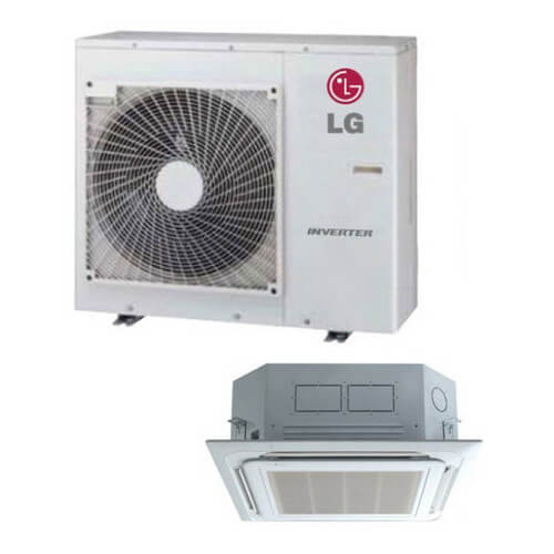 24,000 BTU Ductless Single Zone Air Conditioner/Inverter Ceiling Cassette Heat Pump Package Product Image