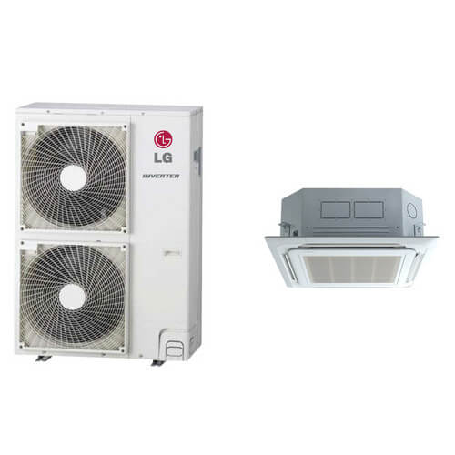 42,000 BTU Ductless Single Zone Air Conditioner/Inverter Ceiling Cassette Heat Pump Package Product Image