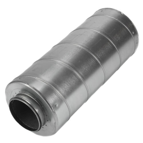 """Galvanized Steel Silencer for 6"""" Duct Product Image"""