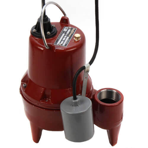"4/10 HP Auto Submersible Pump w/ Wide-Angle Piggyback Float Switch,  115v - 25ft Cord, 2"" Discharge Product Image"