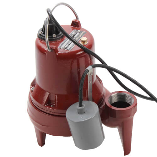 "1/2 HP Auto Submersible Pump w/ Wide-Angle Piggyback Float Switch - 115v - 10 ft Cord - 2"" Discharge Product Image"