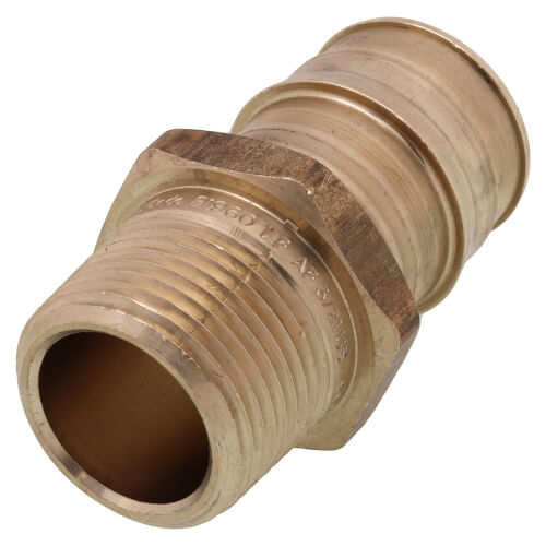 """1"""" ProPEX x 3/4"""" NPT Male Adapter (Lead Free Brass) Product Image"""
