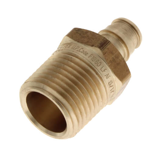 """3/8"""" ProPEX x 1/2"""" NPT Male Adapter (Lead Free Brass) Product Image"""