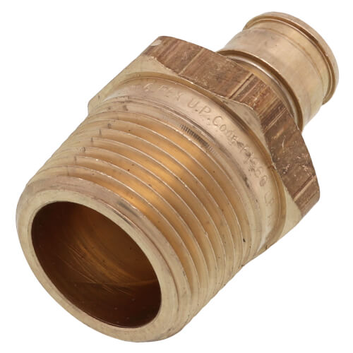 "1/2"" ProPEX x 3/4"" NPT Male Adapter (Lead Free Brass) Product Image"
