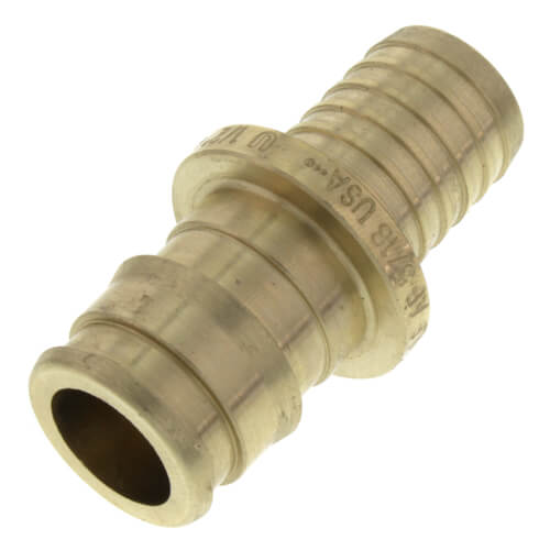 """1/2"""" ProPEX x 1/2"""" PB to PB Coupling (Lead Free Brass) Product Image"""